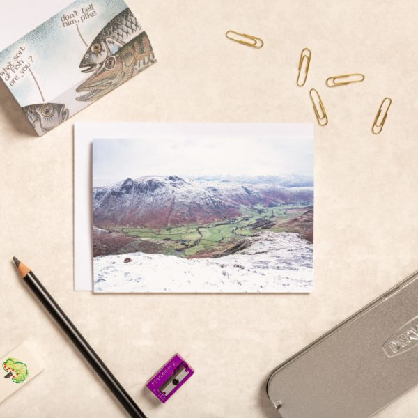 Great Langdale Under The Snow Lake District Greeting Card