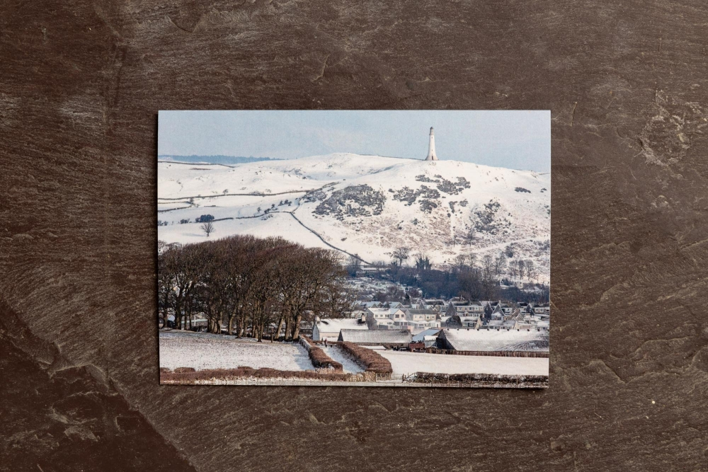 Walking The Dog In The Snow Covered Lanes. Hoad. Ulverston