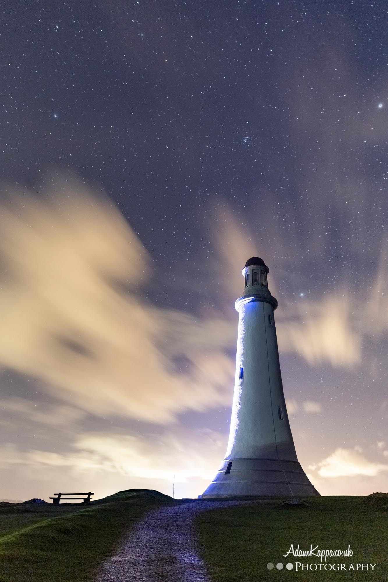 Hoad Monument surrounded by stars
