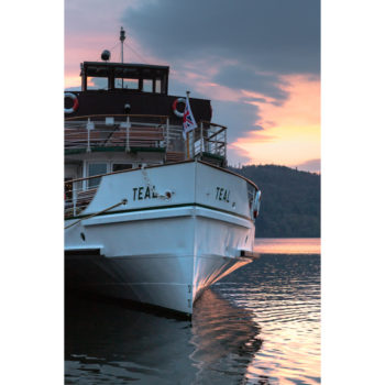 Sunset Over The Teal Windermere Lake Cruises