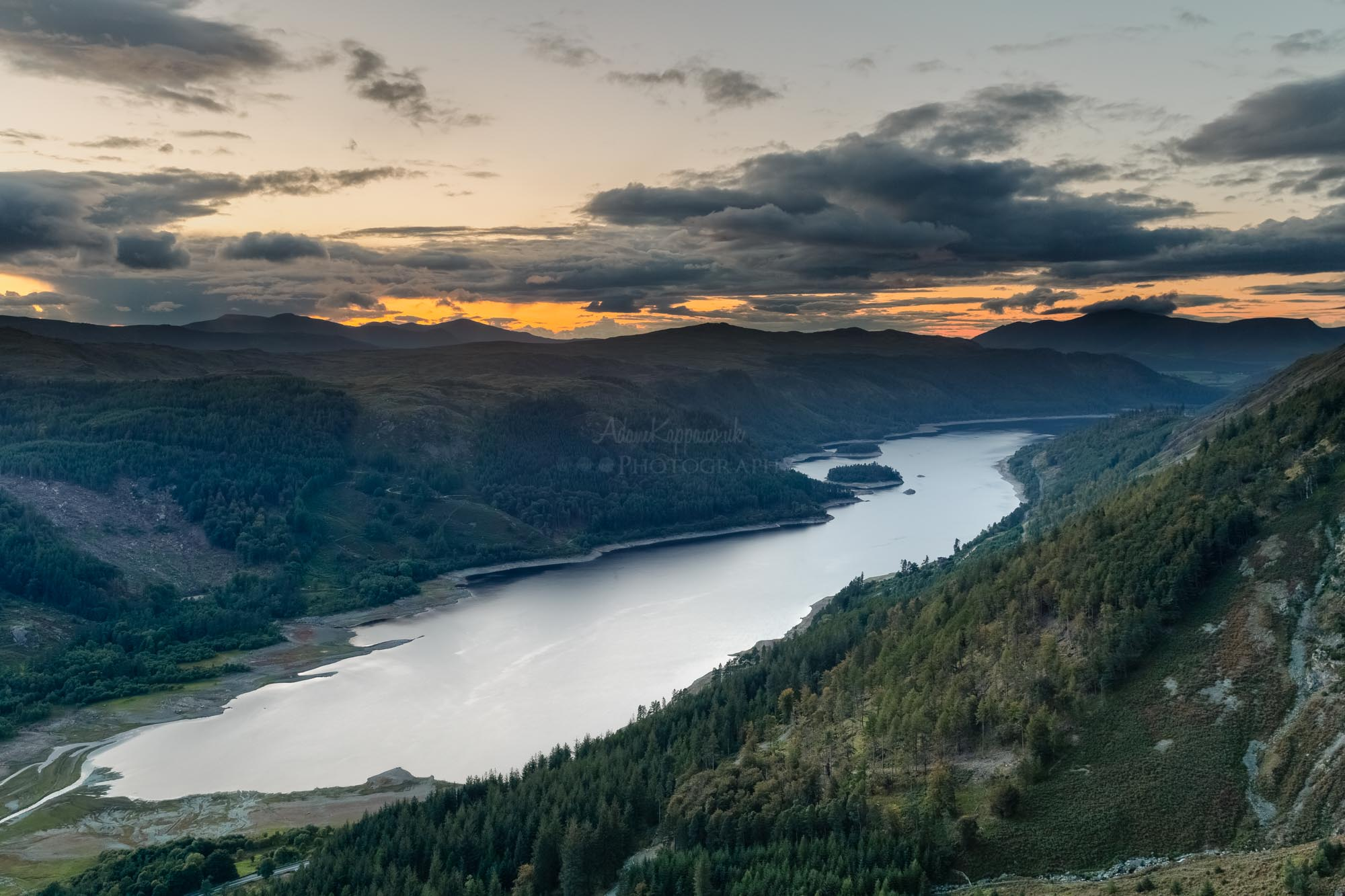 Sunset Over Thirlmere. The Lake District