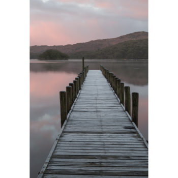 Icy pier on the east side of Coniston