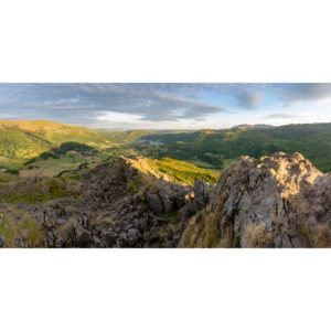 The Lions Back Helm Crag. The Lake District