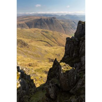 Sunlight And Shadows In The Gulleys On Crinkle Crags. The Lake District.jpg