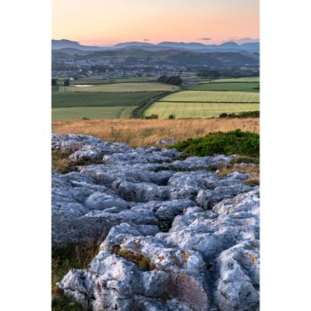 Sunset Over Ulverston From The Lime Stone Pavement Loose Print