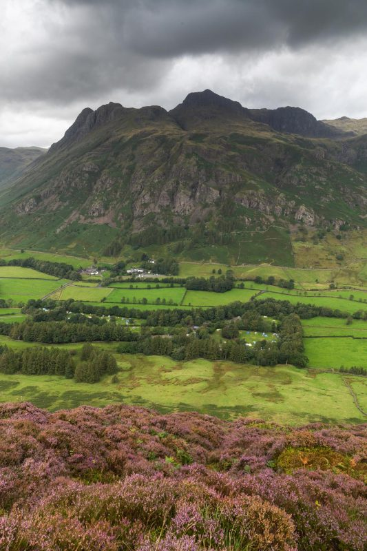 The Langdale Valley From Side Pike