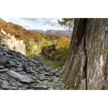 Autumn In The Old Slate Mine. The Lake District Loose Print