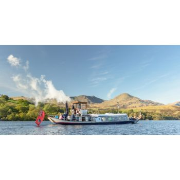 Steam Yacht Gondola On Coniston Water. The Lake District Loose Print