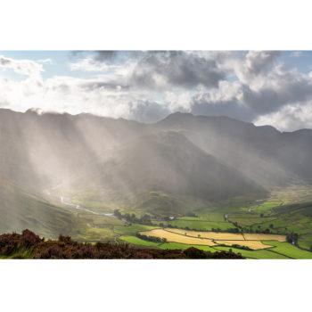 Sunrays Through The Rain. The Lake District Loose Print