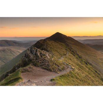 Sunrise Behind Catstye Cam. Swirral Edge The Lake District Loose Print