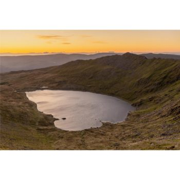 Sunrise Over Red Tarn From Swirral Edge Helvellyn. The Lake District Loose Print