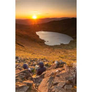 Watching The Sunrise Over Red Tarn. Swirral Edge Helvellyn Loose Print