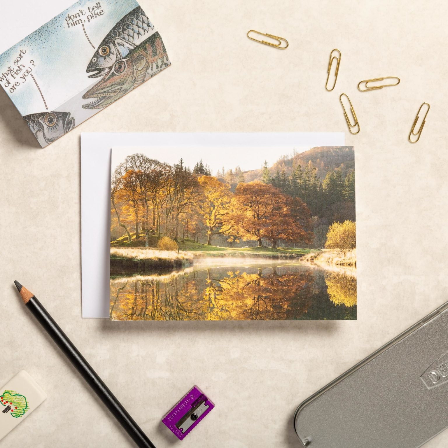 Autumn On The River Brathay. Lake District Greeting Card