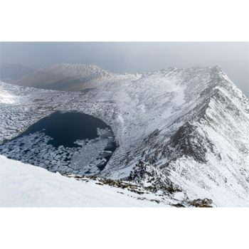 Winter On Red Tarn Striding Edge Helvellyn Loose Print