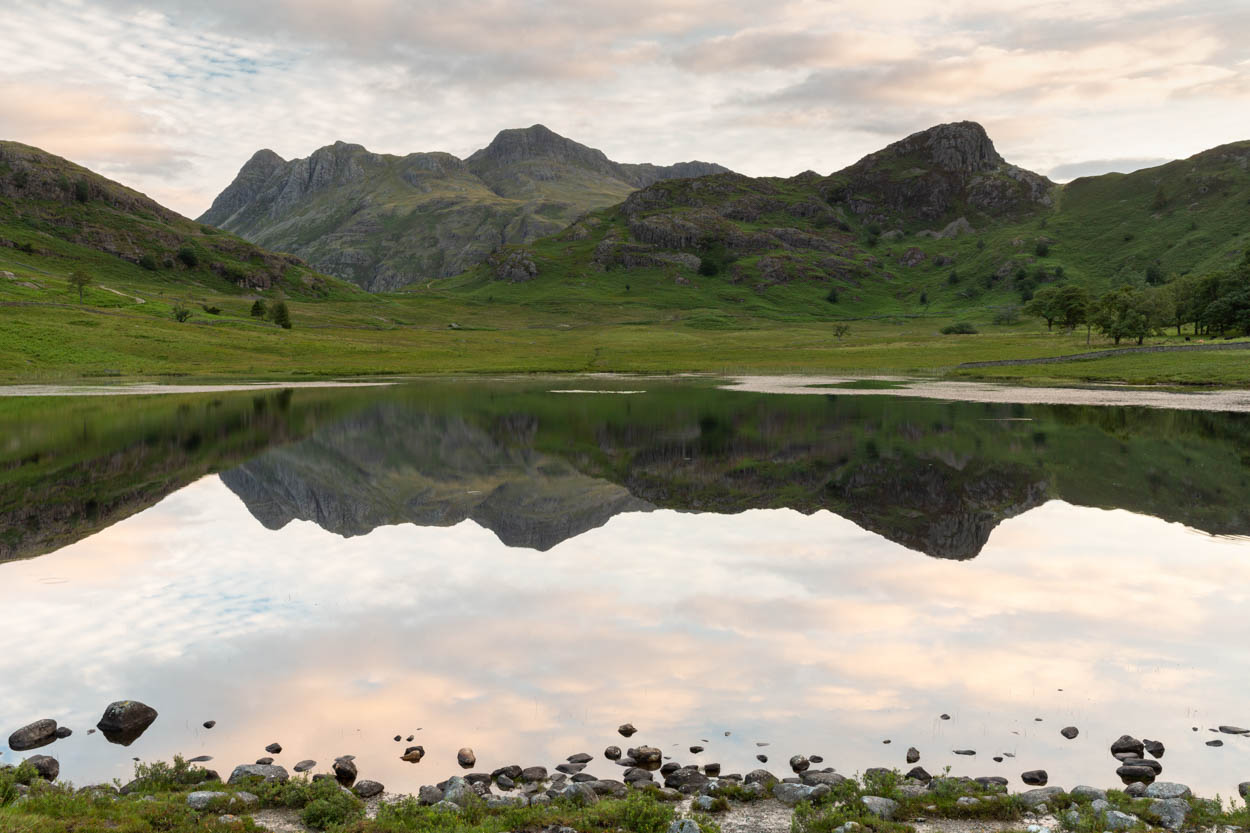 Langdale Reflections From The Edge Of Blea Tarn