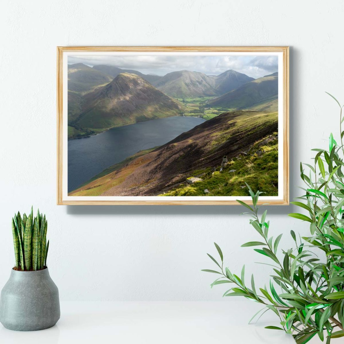 Wastwater Surrounded By Sunkissed Lake District Mountains1