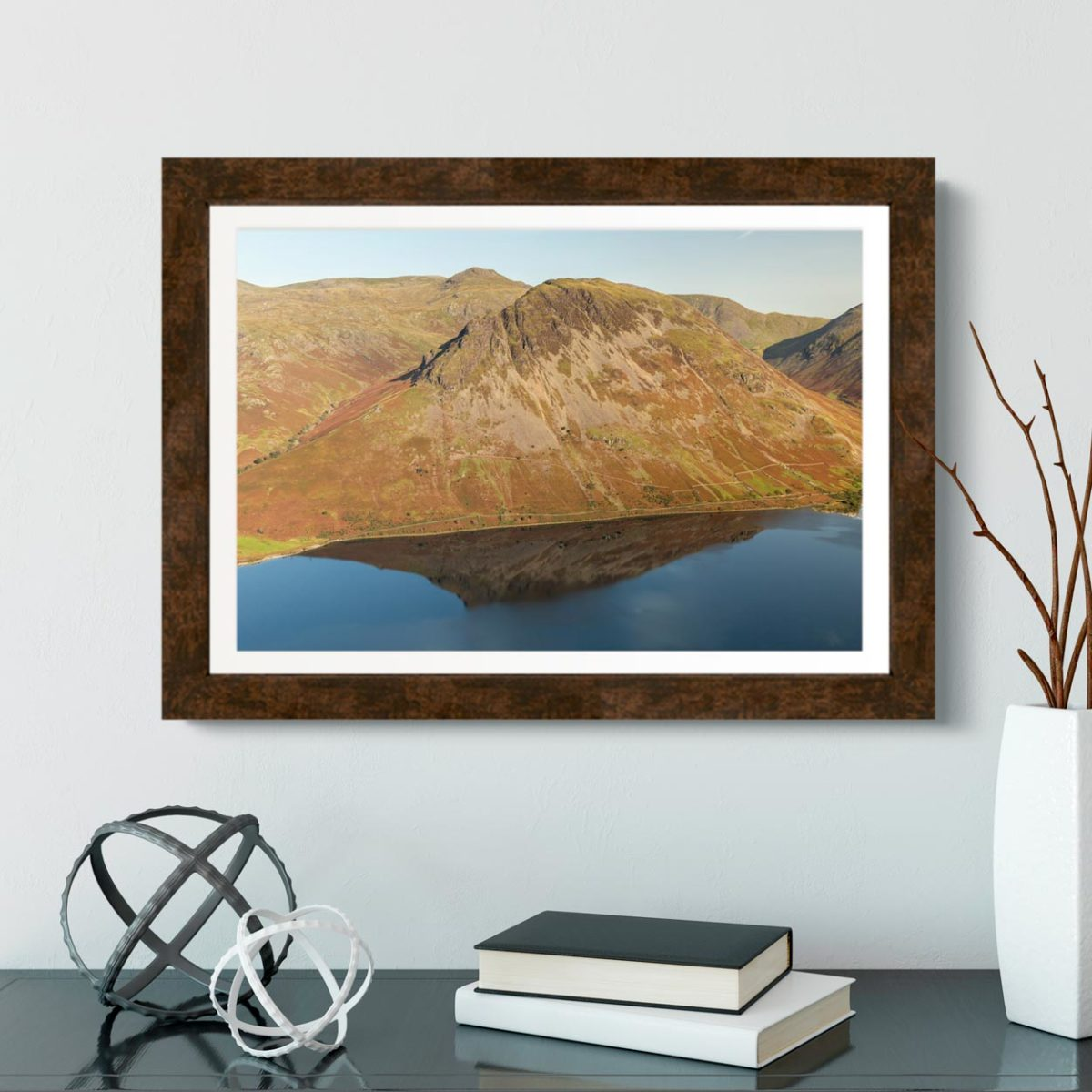 Yewbarrow Reflecting In Wastwater. The Lake District1