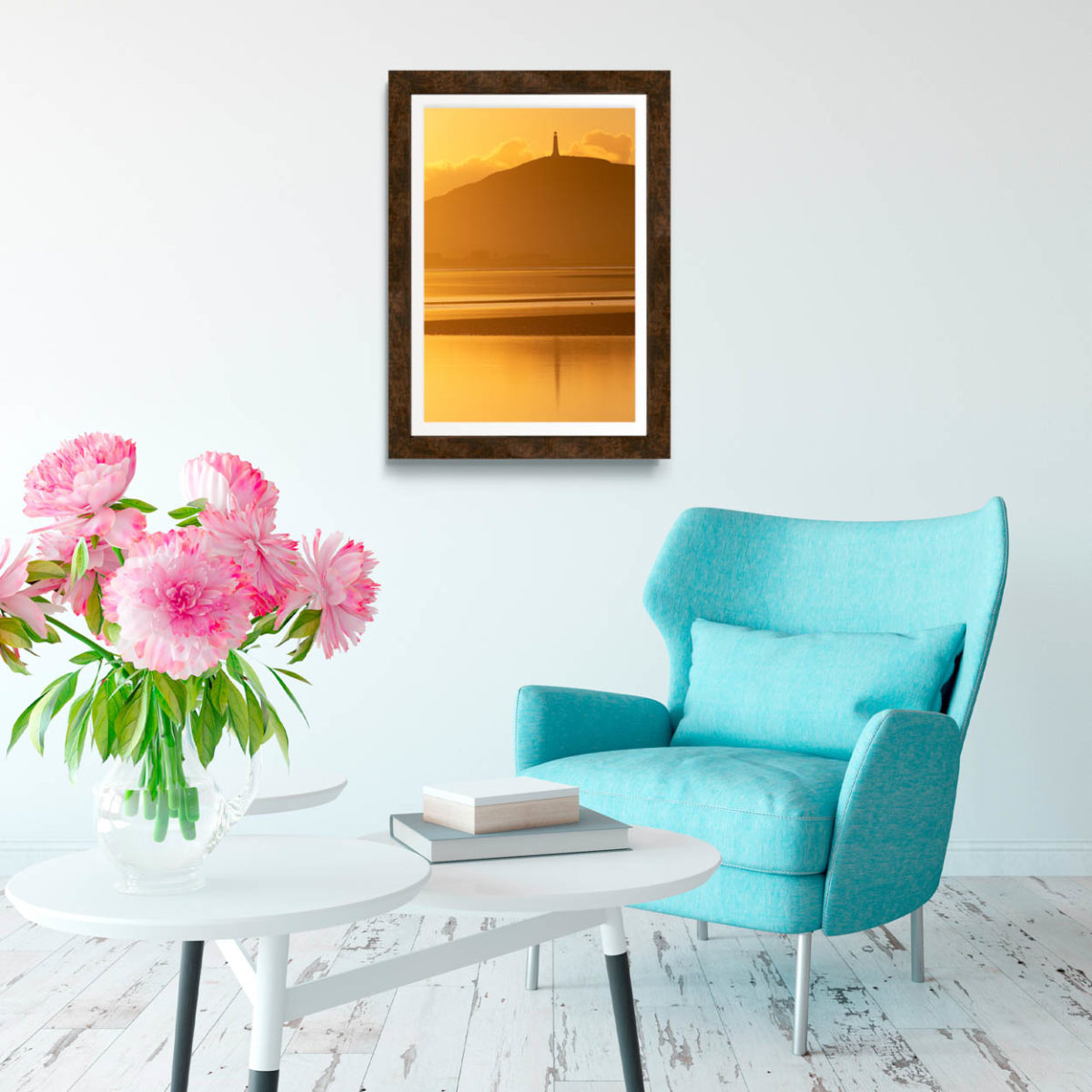 Hoad Monument In The Sunset Reflections Print