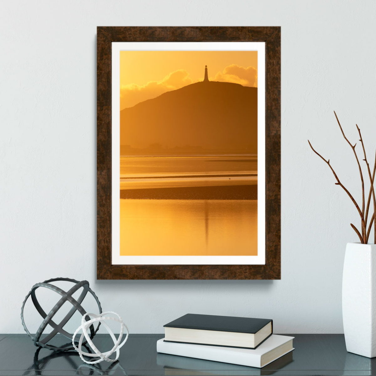 Hoad Monument In The Sunset Reflections Print2